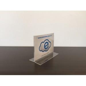 Espositore da tavolo orizzontale/verticale bifacciale (tasca 21x15 o 15x21)