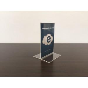Espositore da tavolo verticale/inclinato bifacciale (tasca 10x15)