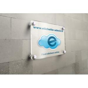 Targhe da muro in plexiglass trasparente 8mm (40x30cm)