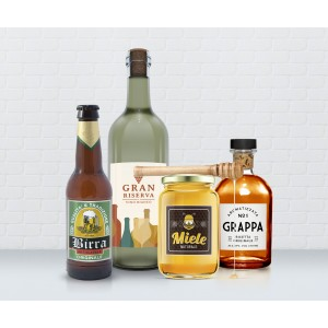 Adesivi etichette in carta vergata bianca o crema