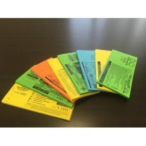 Biglietti lotteria 14x7,4 cm