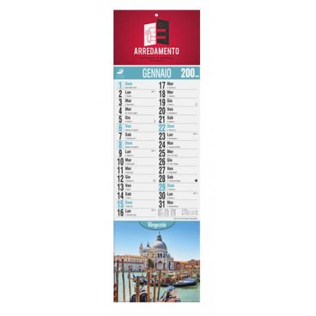 """Calendario da muro """"Silhouette illustrato"""" città d'Italia 14x47 cm"""